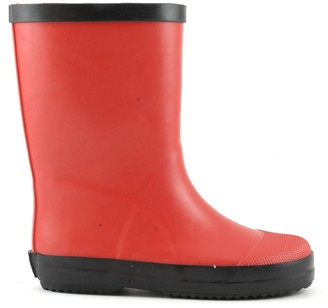 Colors of California Matte Red Rubber Rain Boots - 20