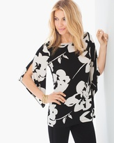 Chico's Abstract Floral Top