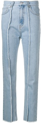 Rokh Frayed Slim-Fit Jeans