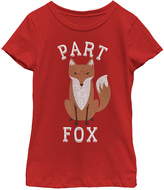 Fifth Sun Red 'Part Fox' Crewneck Tee - Girls
