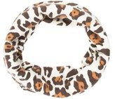 Neiman Marcus Leopard Print Circle Scarf