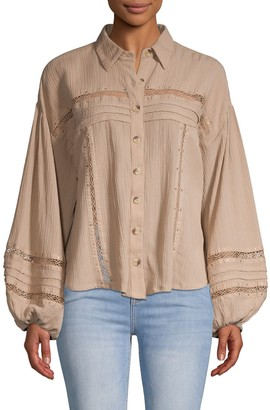 Free People Summer Stars Button Down Shirt