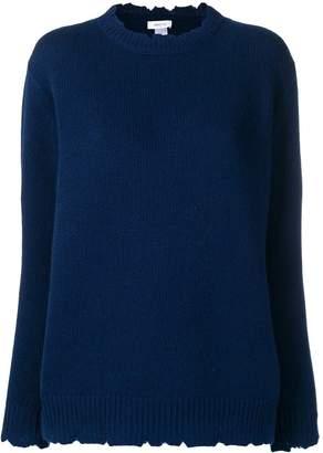 Avant Toi distressed crew neck sweater