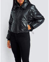 Missguided Glossy shell puffer jacket