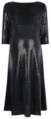 Dorothy Perkins Womens Dp Maternity Black Sequin Midi Dress, Black