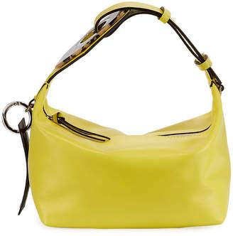 Ganni Leather Small Buckle Satchel Bag