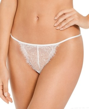 INC International Concepts Inc Women's Lace Strappy Thong Underwear, Created for Macy's