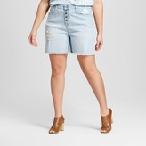 Mossimo Women's Plus Size Denim Boyfriend Short Light Wash