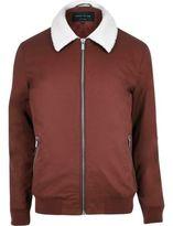 River Island Rust Borg Collar Harrington Jacket