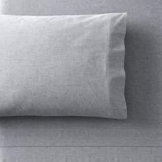 Pottery Barn Teen Organic Chambray Pillowcases, Set of 2, Navy