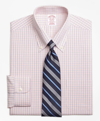 Brooks Brothers Madison Classic-Fit Dress Shirt, Non-Iron Micro-Tattersall