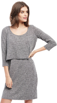 Motherhood Tiered Nursing Dress - Grey