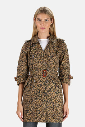 R 13 Raglan Sleeve Trench Coat