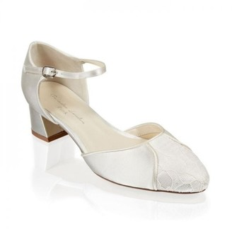 Paradox London Lace and Satin 'Agatha' Wide Fit Two Part Shoe