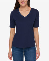 Tommy Hilfiger Satin-Trim Top, Only at Macy's