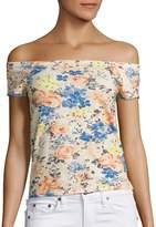 Rebecca Taylor Women's Off-the-Shoulder Gigi Linen Top