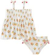 Kate Spade Girls' Orange Print 2-Piece Swimsuit