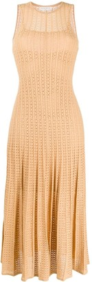 Sandro Paris Alena pleated knit dress