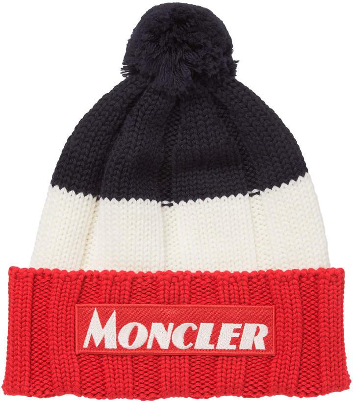e375e64a Men's Tricolor Chunky Pom Beanie Hat