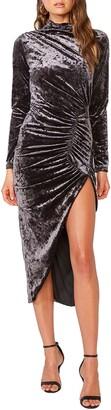 Bardot Zula Long Sleeve Velvet Dress