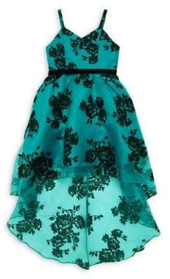 Rare Editions Girl's Floral High-Low Dress