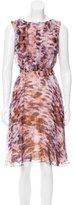 Escada ABstract Print Silk Dress