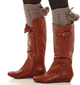 MIXIT Mixit Open-Weave Pom Pom Boot Toppers