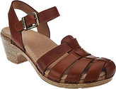 Dansko As Is Leather Closed-toe Sandals with Backstrap-Milly