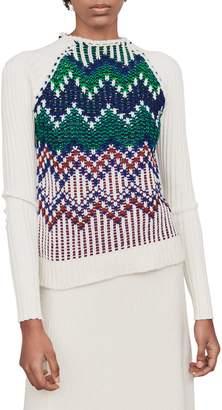 Maje Mimi Fair-Isle Wool-Blend Sweater