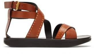Isabel Marant Nasha Studded Leather Sandals - Womens - Tan