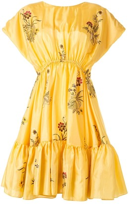 Romance Was Born Queens Hamlet embroidered flared dress