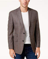 Michael Kors Men's Classic-Fit Brown Plaid Sport Coat