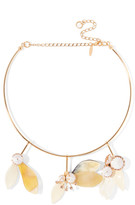 Marni Gold-plated, Crystal And Horn Necklace - one size