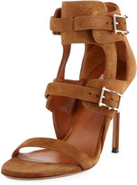 Valentino High Suede Sandal, Taupe