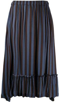 Comme des Garçons Comme des Garçons Asymmetric Stripes Tier Skirt