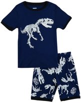 IF Pajamas Dinosaur Little Boys Shorts Set Pajamas 100% Cotton Clothes Toddler KidT