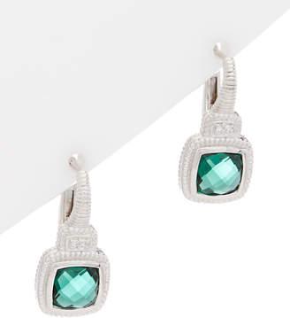 Judith Ripka La Petite Silver Gemstone Drop Earrings