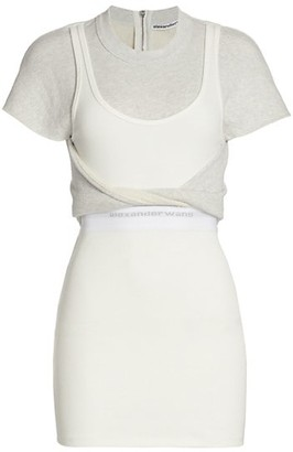alexanderwang.t Hybrid Twist Tank Sweatshirt Dress