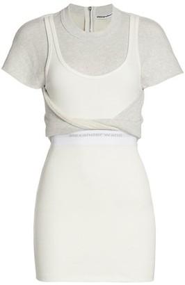 alexanderwang.t Hybrid Twist Tank Sweatshirt Dress