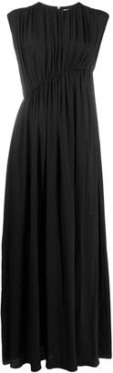 Erika Cavallini Asymmetric Gathered Waist Gown