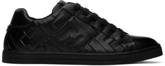 Fendi Black Leather Forever Sneakers