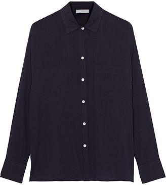 Vince Striped Cotton-gauze Shirt