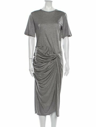 By Malene Birger Bateau Neckline Midi Length Dress Grey