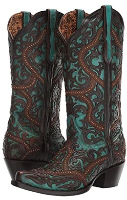 Corral Boots G1415 (Turquoise/Brown) Women's Boots