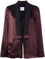 Forte Forte front tie blazer - women - Cotton/Acetate/Viscose - 1