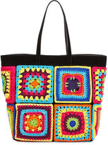 Moschino Crochet Patchwork Tote Bag, Multi