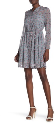 French Connection Fifine Floral Print Crinkle Dress