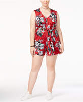 Love Squared Trendy Plus Size Tie-Front Romper