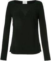 Dion Lee lace tile long sleeve blouse