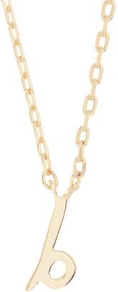 Kate Spade B script letter pendant necklace